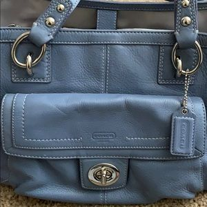 Coach Purse - Beautiful Soft Blue